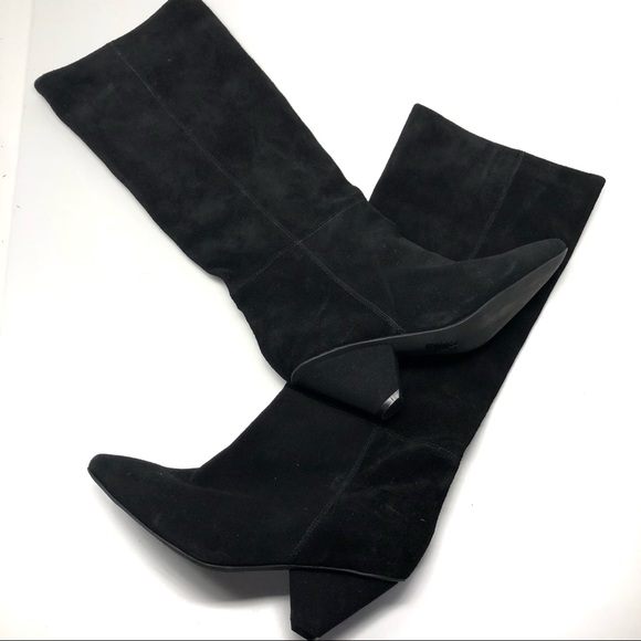 295041308b5c Jeffrey Campbell Shoes - NEW Jeffrey Campbell Black Suede Senita Knee Boots